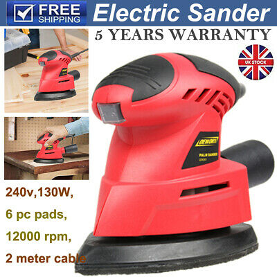 130w Electric Detail Mouse Palm Hand Sander &6 Detail Sanding Sheets Home DIY UK • 15.90£