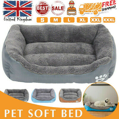 Dog Beds Pet Cushion House Waterproof Soft Warm Bed Kennel Blanket Extra Large • 13.65£