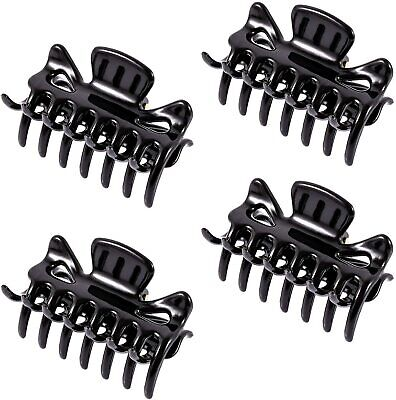 2x + 4x BLACK SMALL HAIR CLAW  6CM LADIES/WOMENS CLAMPS CLIPS/GRIPS TORTOISE    • 2.99£