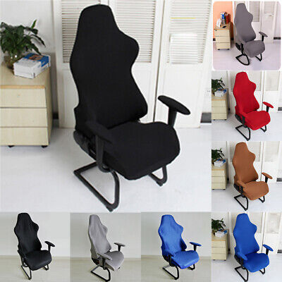 AU26.35 • Buy Elastic Gaming Chair Cover, Rotatable Computer Chair Cover For Home Office