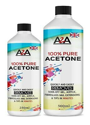 £8.29 • Buy 100% Pure Acetone Superior Quality Nail Polish Remover UV/LED GEL FAST DELIVERY