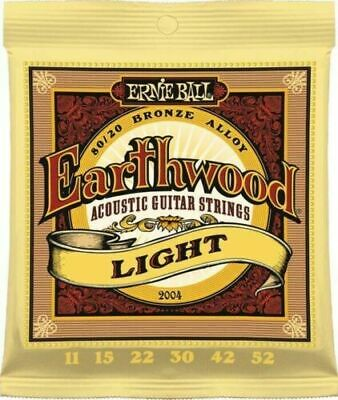 AU12.95 • Buy 🔥 ERNIE BALL 2004 Acoustic Guitar Strings EARTHWOOD 80/20 Bronze Light 11-52