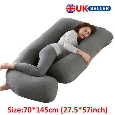 J Shape Pregnancy Women Pillow Maternity Belly Contoured Body Extra Large Gray  • 34.79£