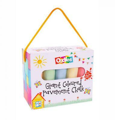 Pack Of 15 Assorted Colour Pavement Drawing Kids 10cm Toy Chalk Set • 3.93£
