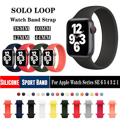 $ CDN6.07 • Buy Silicone Sport Band Strap For Apple Watch Series SE 6/5/4/3/2/1 42/44mm 38/40mm