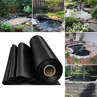 Durable HDPE Fish Pond Liners Membrane Outdoor Garden Black Liner Various Sizes • 55.14£