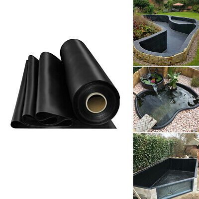 5 Sizes Outdoor Fish Pond Liners HDPE Liner Membrane DIY Garden Pool Landscaping • 28.79£