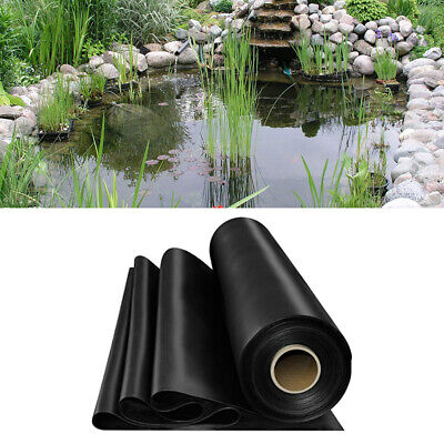 Garden Fish Pond Liners DIY Outdoor HDPE Liner Membrane Landscaping 0.35mm Thick • 55.19£