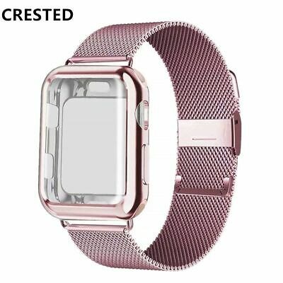 $ CDN15.72 • Buy Case And Strap For Apple Watch Band 42mm 38mm Iwatch 3/2/1 Metal Watchband Cover