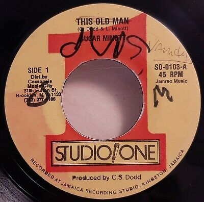 Reggae 7  45 Sugar Minott This Old Man Studio One • 0.99£