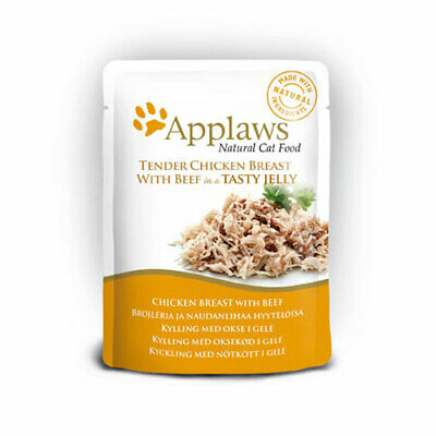 Applaws Chicken & Beef In Jelly Cat Pouches - 16 X 70g • 17.60£