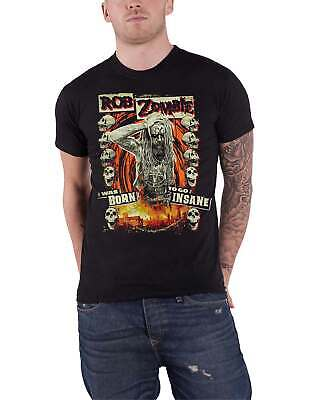 Rob Zombie T Shirt Born To Go Insane Stage Band Logo Official Mens New Black • 14.95£