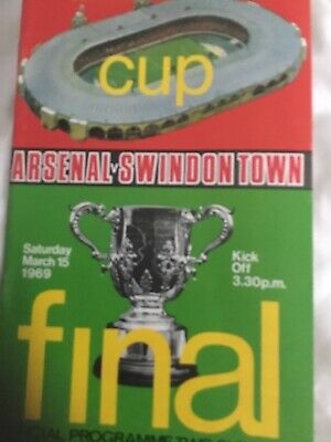 League Cup Final Arsenal V Swindon Town Football Programme 15th March 1969  • 2.99£