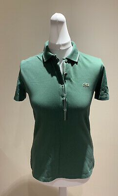 Lacoste Polo Green Top Women's  Size 40 Brand New Pit To Pit 48cm • 18£
