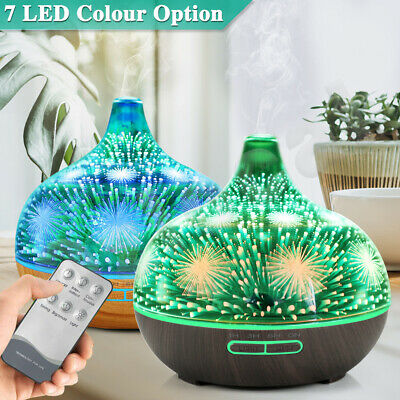 AU31.69 • Buy 3D Air Humidifier Diffuser Aroma Aromatherapy Ultrasonic 400ml Essential Oil LED
