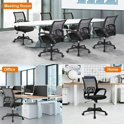 AU38.99 • Buy Ergonomic Office Chair Computer Gaming Chair Mesh Desk Chairs Executive Black