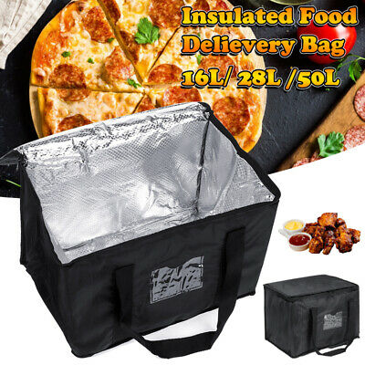 UK Food Delivery Insulated Bag Pizza Takeaway Thermal Warm/Cold Bag Ruck 3 Size • 13.49£