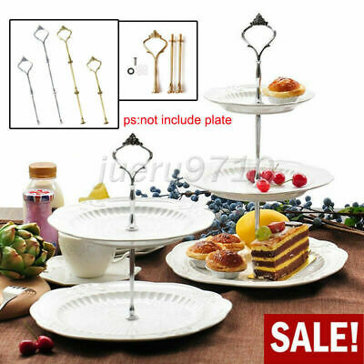 2/3Tier Cake Plate Stand Cupcake Fittings Accessory Kit Wedding Party Parts Use • 2.39£