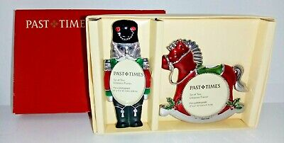 Past Times  Set Of Two Christmas Frames Vintage Soldier & Rocking Horse Boxed  • 14.99£