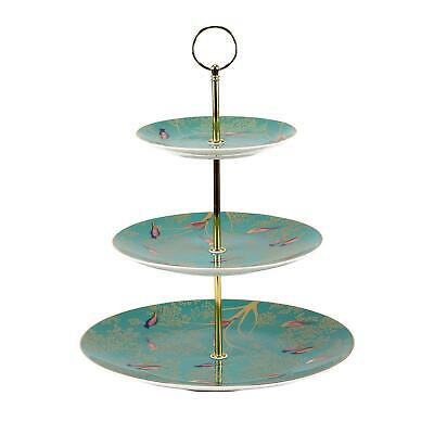 £51.99 • Buy Sara Miller London Portmeirion Chelsea Collection 3 Tier Cake Stand Green