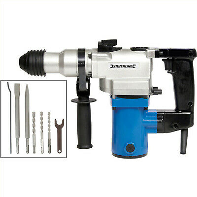 Heavy Duty SDS Hammer Drill - Breaker Drill With Drill Hammer Chisel Attachments • 69.99£