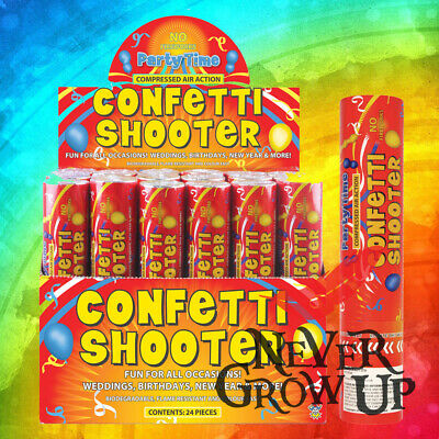 £6.95 • Buy 20cm Biodegradable Confetti Shooter Compressed Air Cannon Party Wedding Popper