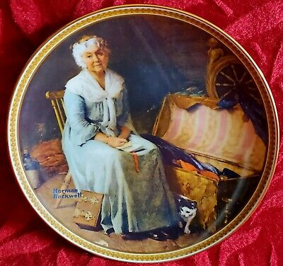 """$ CDN10.01 • Buy NORMAN ROCKWELL """"Reminiscing In The Quiet"""" Rediscovered Women * Knowles Plate *"""