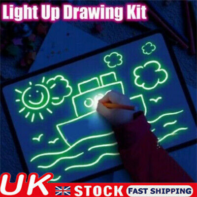 Draw With Light Fun And Developing Toy Drawing Board Magic Draw Educational UK! • 11.59£