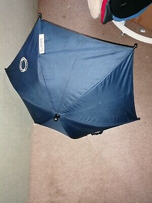 Bugaboo Parasol In Navy  NO CLIPS INCLUDED **Free UK Postage  • 16£