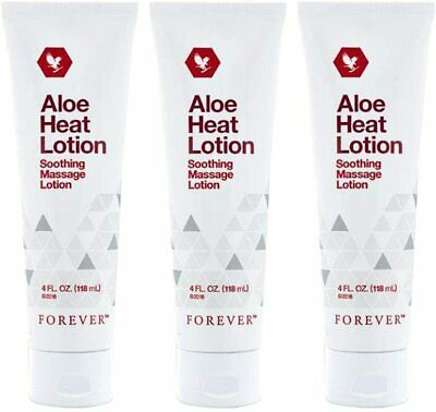 £32.50 • Buy ✨3 ✖ Forever Living Aloe Heat Lotion Soothing Massage Lotion 118ml Original 💥