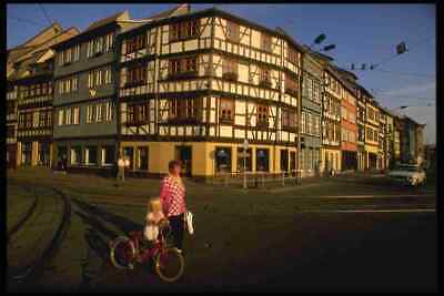 £43.99 • Buy A3 Box Canvas Germany 129063 Renovated Tudor Buildings Erfurt Old Town
