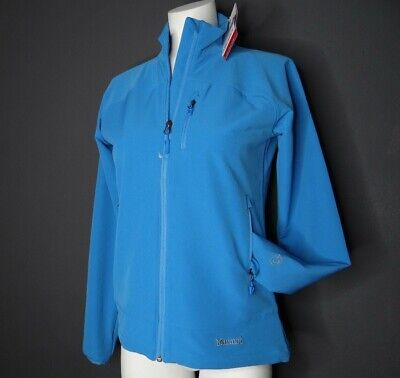 £28.76 • Buy NWT MARMOT Tempo Women's Soft Shell Jacket M3 Water Repellent Blue Size Sm NEW
