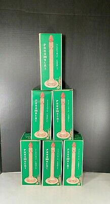 $ CDN13.35 • Buy Vintage Paramount Christmas Indoor Candles 125 Electric W/Boxes Lot Of 6