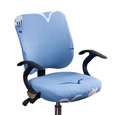 AU16.23 • Buy Modern Computer Office Swivel Chair Cover Separate Home Stretchable Removable