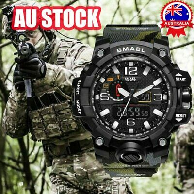 AU18.46 • Buy SMAEL Mens Waterproof Sport Military S-Shock Analog Quartz Digital Wrist Watches