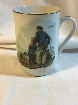 $ CDN6.68 • Buy 1985 Norman Rockwell Museum  LOOKING OUT TO SEA   Cup Mug Gold Rim Coffee Tea