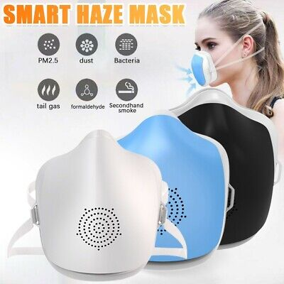 Air Purifier 4-Ply Smart Reusable Face Mask With Filtered Electric Turbine Fan • 21.99£
