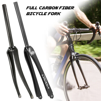 £34.69 • Buy 700C Tyre Carbon Fiber Bicycle Front Fork Road Bike Cyclce Fork 28.6/25.4mm X7H0