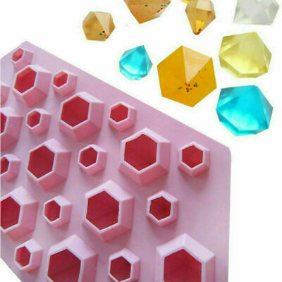 27 Holes Diamond Bakeware Silicone Mould Crystals Gems Wax Melts Ice Candy Mold • 4.19£