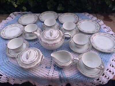 Tea Set — Noritake, Glenwood -- COMPLETE 21 Pieces • 60£