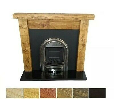Fire Surround Fireplace 6x3 Chunky Reclaimed Mantel Solid Pine Beam Rustic New • 155£