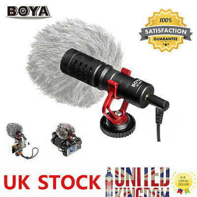 BOYA BY-MM1 3.5mm Cardioid Microphone Mic For Canon Nikon Sony IPhone Samsung • 19.59£