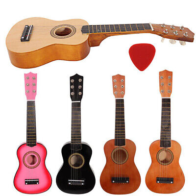 21  Kids Beginners Practice Acoustic Guitar + Pick + String Children Xmas Gift • 20.15£