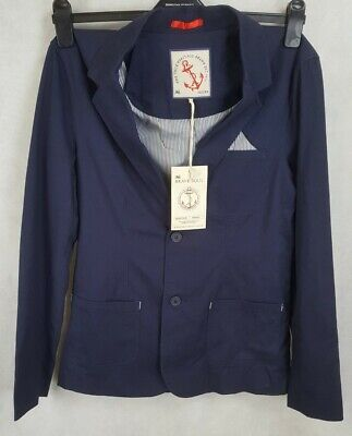 Brave Soul Mens Suit Jacket, Navy, Size 36S, 100% Cotton, BNWT RRP £55.   Z4 • 17.59£