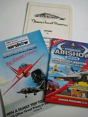 £9.99 • Buy Southend Airshow And Museum Programmes Aviation Bundle