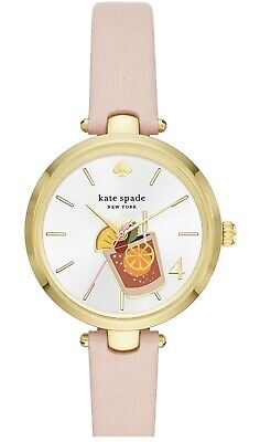 $ CDN99.49 • Buy NEW Kate Spade New York Holland Blush Leather Cocktail Watch KSW1629
