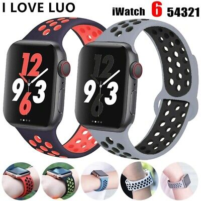 $ CDN8.27 • Buy NEW Silicone SPORT Band 38/40mm 42mm 44mm For Nike+ APPLE Watch Series 2 3 4 5 6