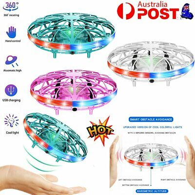 AU21.47 • Buy 360° Mini LED Drone Smart UFO Aircraft For Kids Flying Toys RC Hand Control GD