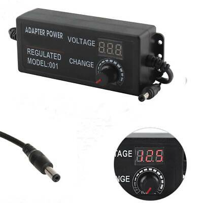 Universal Adjustable Multi-Voltage AC/DC Switching Power Supply Adapter Charger • 10.59£