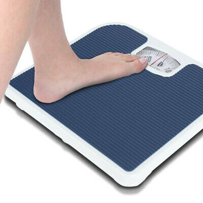 UK Accurate Mechanical Dial Bathroom Scales Weighing Scale Body Weight 130KG NEW • 12.59£